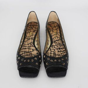 Sam Edleman Leather Square Toe Riley Flats 8.5